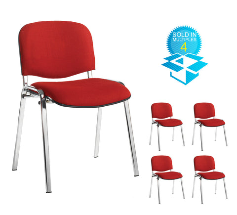 Taurus Fabric Chrome Frame | Variety of Colours | Box of 4 Chairs