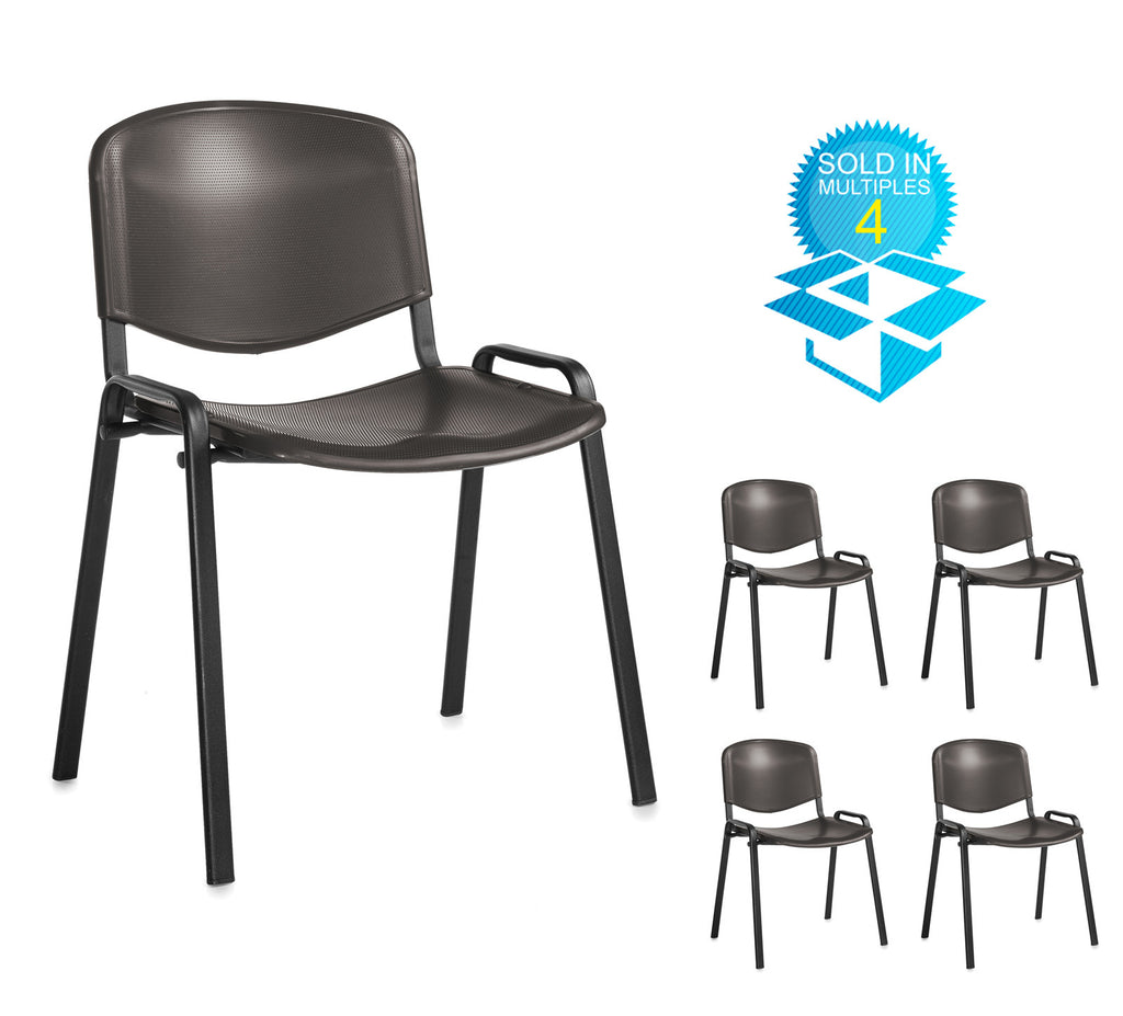 Taurus Plastic | Black or Blue | Box of 4 Chairs