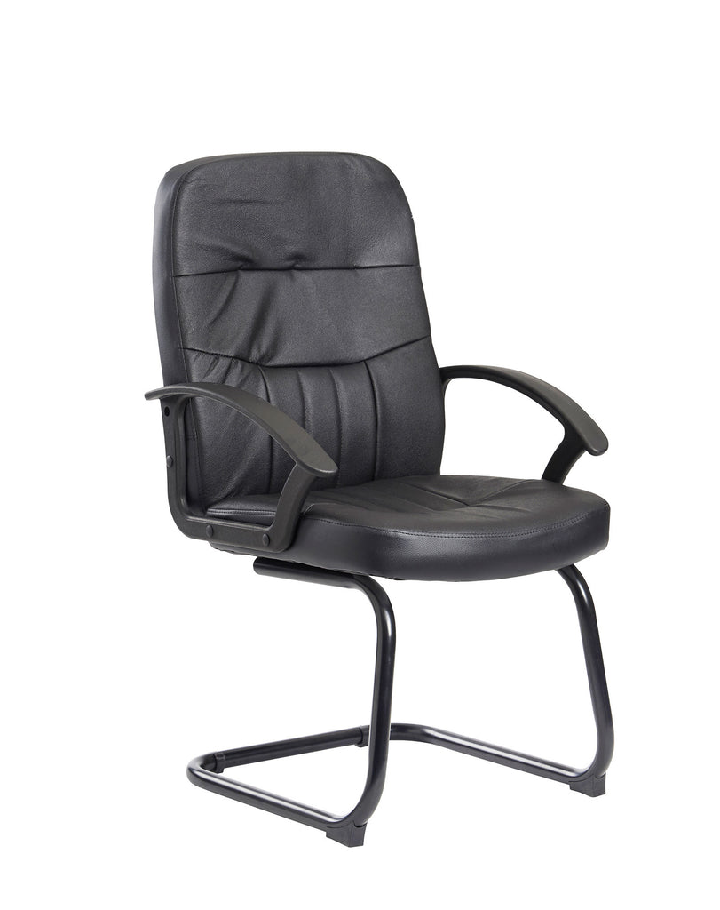 Cavalier Executive Visitor Chair | Black Leather