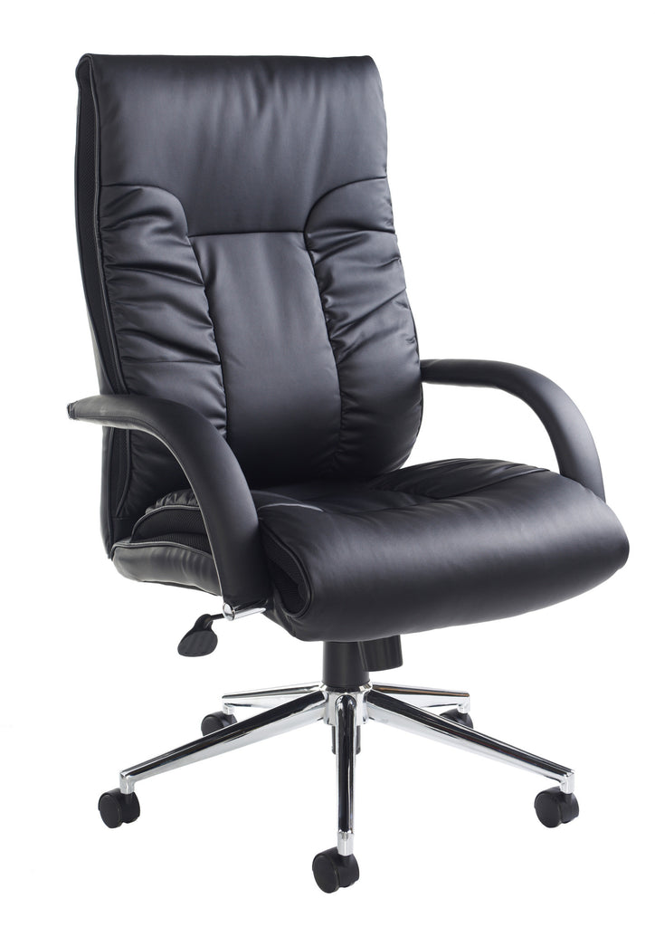 derby high back executive chair black faux leather office chairs