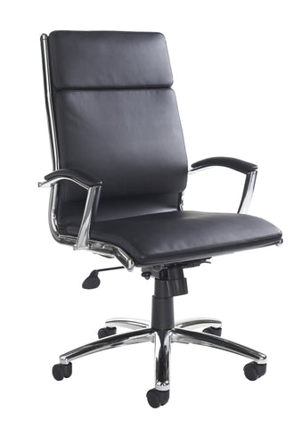Florence High Back Executive Chair | Black Faux Leather