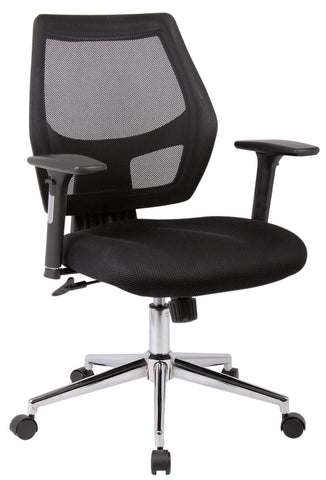Granthan Fabric Mesh Operator Chair | Black