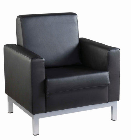 Helsinki Reception Tub Chairs | Black Leather Faced | 1, 2, 3 Seater Available