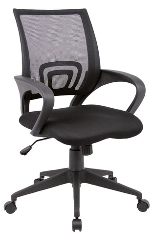 Lincoln Mesh Back operator Chair | Black