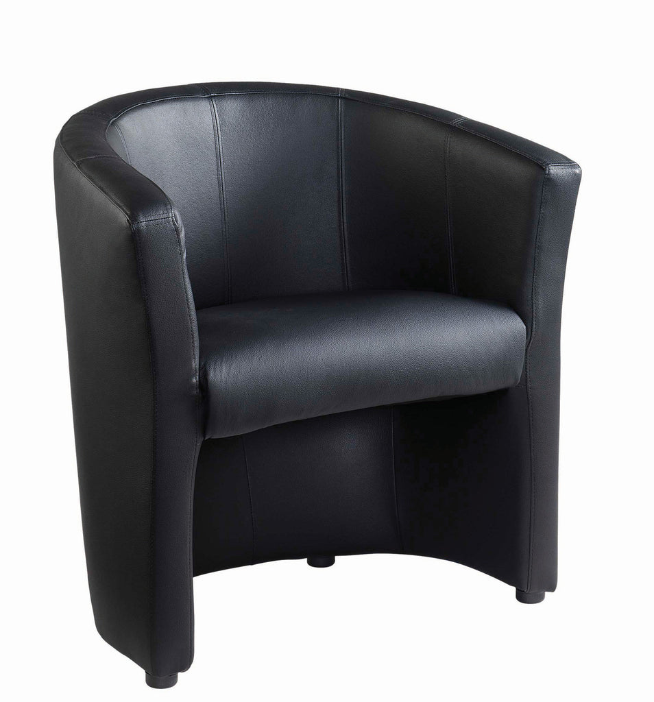 London Reception Tub Chairs | Black faux Leather | Single or Double Available  sc 1 st  Office Chairs 2 Go & London Reception Tub Chairs | Black faux Leather | Single or Double ...