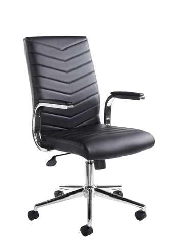 Martinez High Back Managers Chair | Black Faux Leather