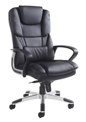 Palermo High Back Executive Chair | Black Faux Leather