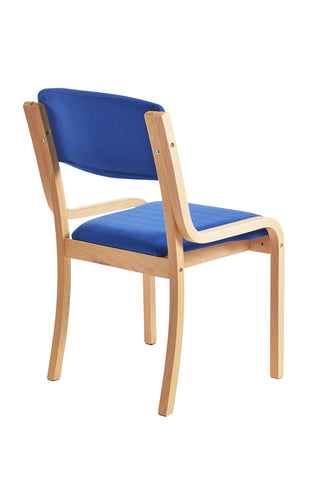 Prague Wooden Conference Chair Blue Or Charcoal Choice