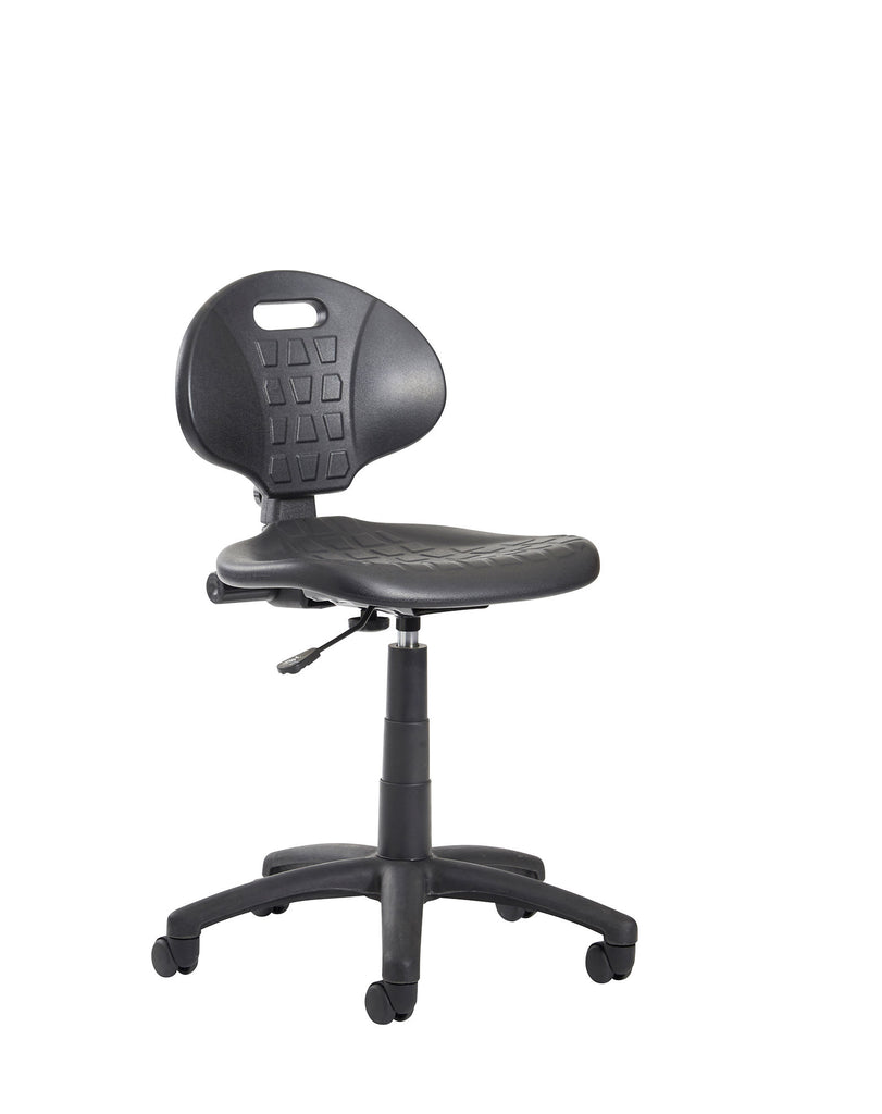 Prema 200 Polyurethan Industrial Operator Chair | Contoured Back Support | Black