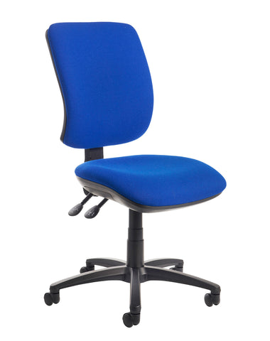 Senza High Back Operator Chair | Blue or Charcoal | Choice of Arms