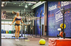 Crossfit Athlete Rachel Martinez Trains The Pegboard And Sets A Push Press PR