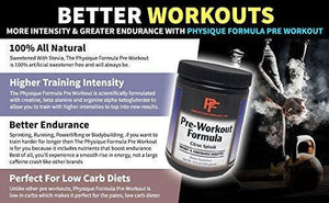 Keto Pre Workout Supplement|Low Carb,Keto Pre Workout - Physique Formula