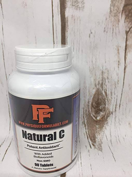 All Natural, NON-GMO Extra Strength Vitamin C With Bioflavonoids - Physique Formula
