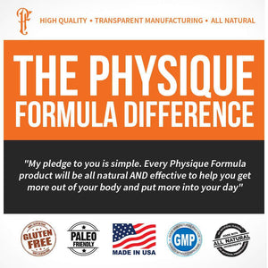 Physique Formula Men's Natural Multivitamin With ZMA, MCT Oil 30 Day Supply - Physique Formula