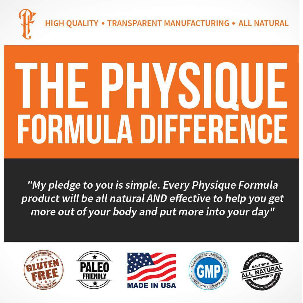 Physique Formula Grass Fed Whey Protein Powder- 100% All Natural Grass Fed Protein NON-GMO Cold Pressed Gluten Free rBGH/rBST free Hormone Sucralose Free Whey Isolate Chocolate Flavor