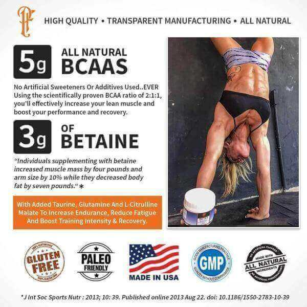 Physique Formula BCAAs Without Caffeine| Caffeine Free BCAAS Without Sucralose