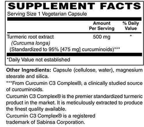 Physique Formula Curcumin Turmeric Supplement- Turmeric Supplement with 95% Curcuminoids for Cardiovascular Support & Healthy Joints with Advanced Absorption Capsules For Men & Women