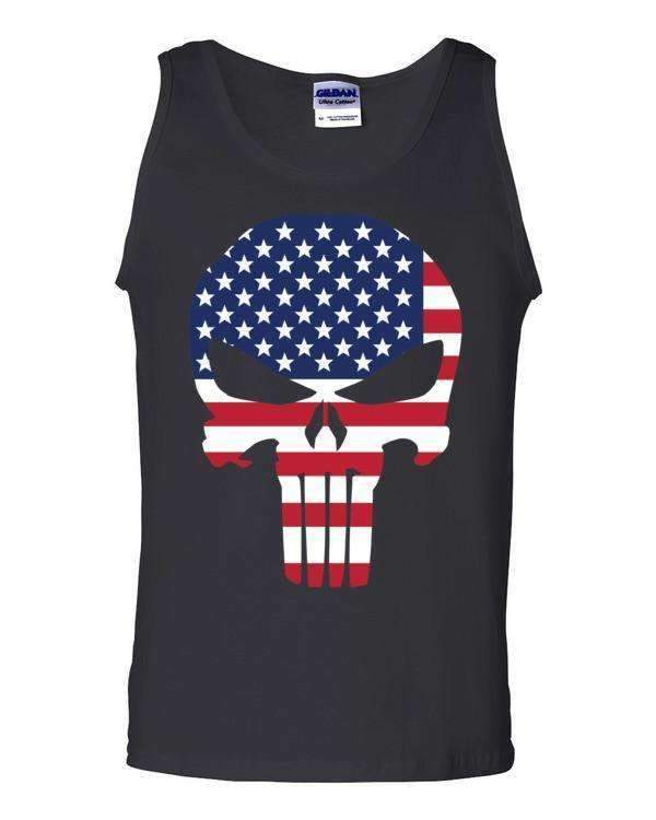 Red,White & Blue Skull Training Tank - Physique Formula