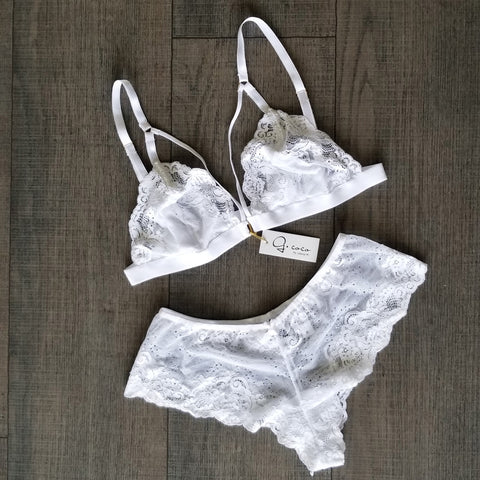 Gcoco Soft Bralette and Hipster Pantie Set-Gcoco Online Store