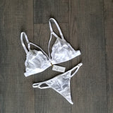 Handmade Gcoco non-padded Bralette and Thong Set-Gcoco Online Store