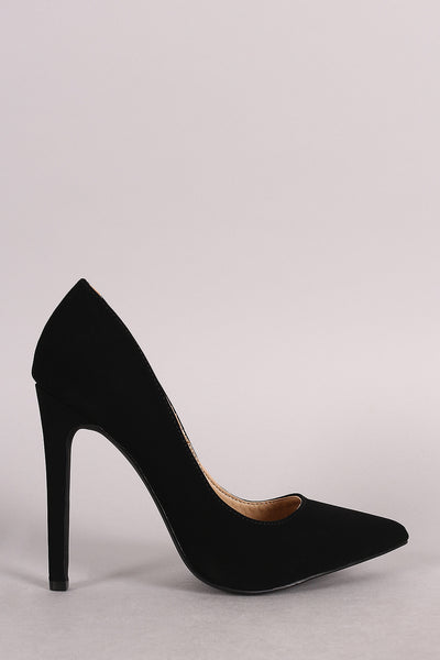 Nubuck Pointy Toe Single Sole Pump-Gcoco Online Store