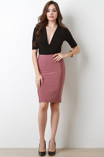 High Waisted Bandage Pencil Skirt-Gcoco Online Store
