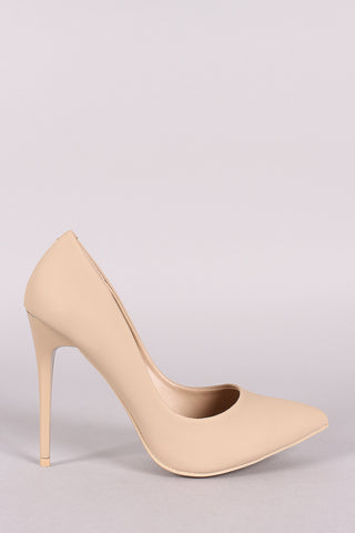 Nubuck Pointy Toe Stiletto Pump-Gcoco Online Store