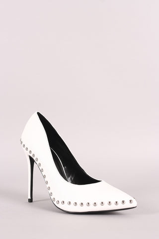 Wild Diva Lounge Studded Pointy Toe Pump-Gcoco Online Store