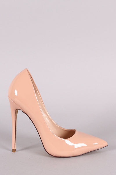 Patent Pointy Toe Stiletto Pump-Gcoco Online Store