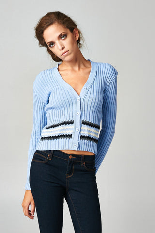 Women's Long Sleeve Cardigan Sweater-Gcoco Online Store