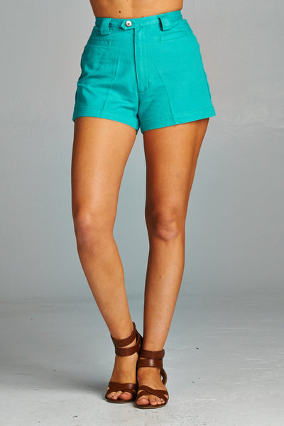 Women's High Waisted Denim Shorts-Gcoco Online Store