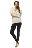 Women's Knitted V-Neck Sweater-Gcoco Online Store