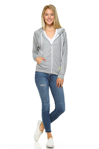 Women's Zip Up Hoodie Sweater-Gcoco Online Store