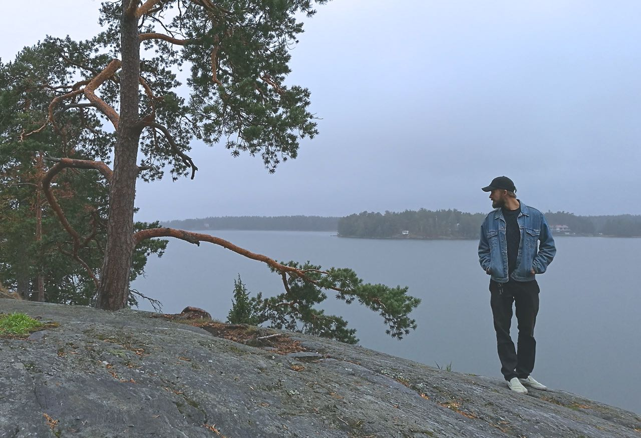 Picture of a Finnish man in nature in Uutela, Vuosaari, Finland