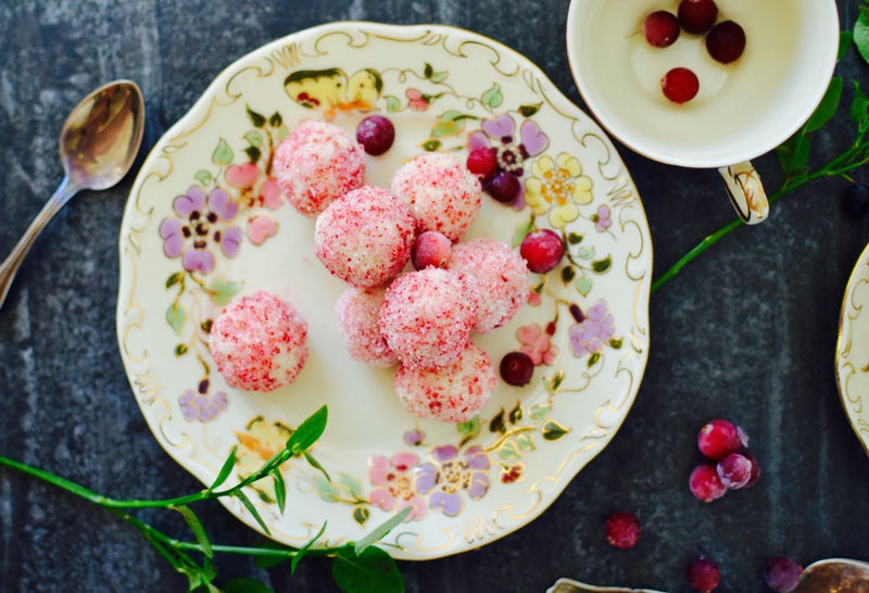 Picture of Rose Root Truffles sprinkled with Lingonberry Birch Sugar