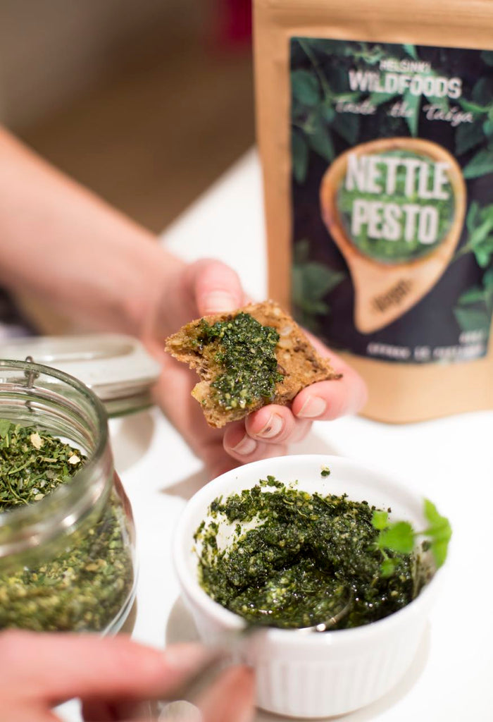 Helsinki Wildfoods' vegan nettle pesto
