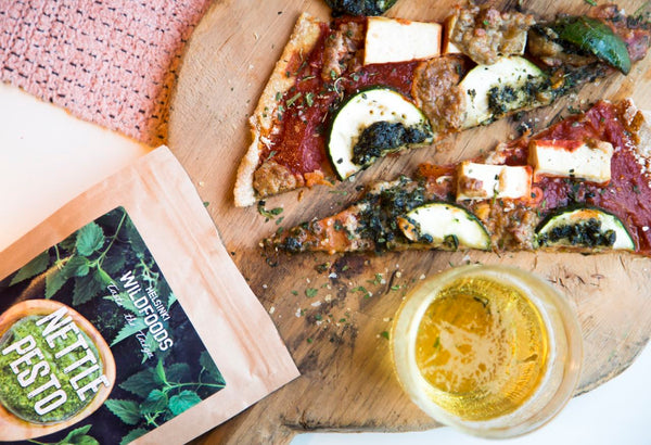 gluten-free Nettle Pesto Pizza