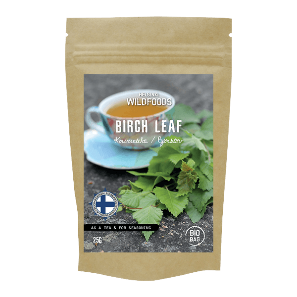 Picture of Helsinki Wildfoods' Birch Leaf product, Koivunlehti