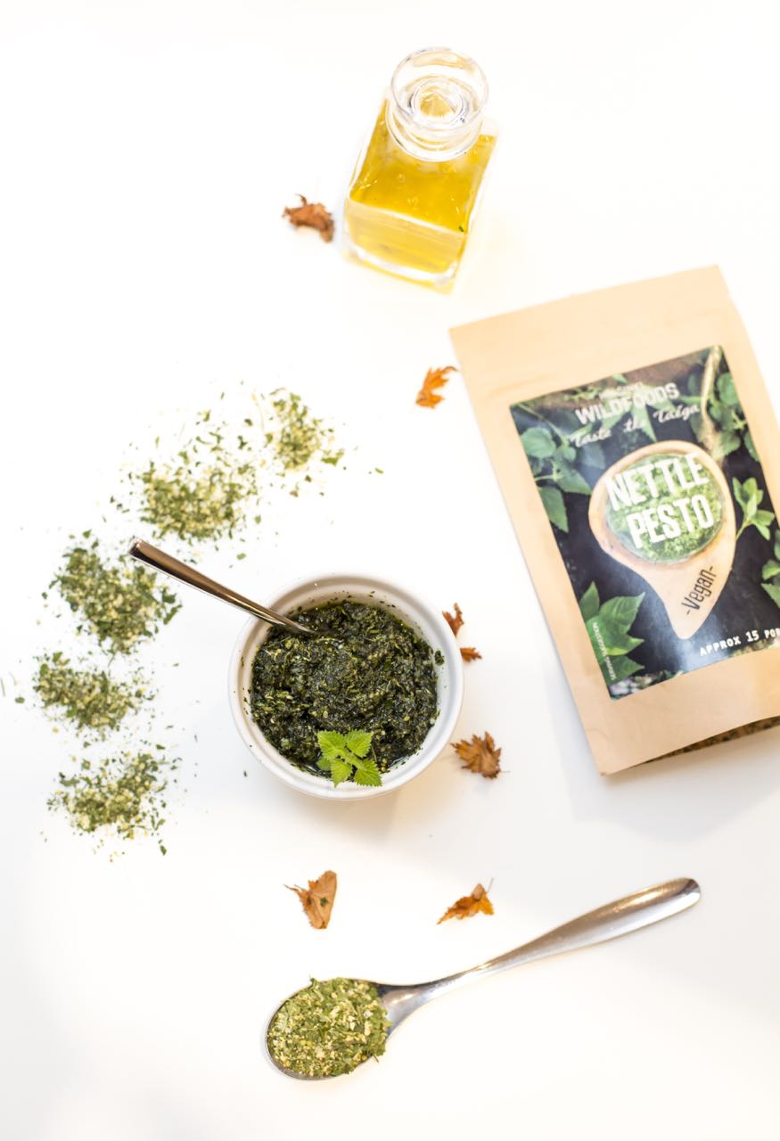 Picture of Helsinki Wildfoods' 'Just Add' vegan Nettle Pesto