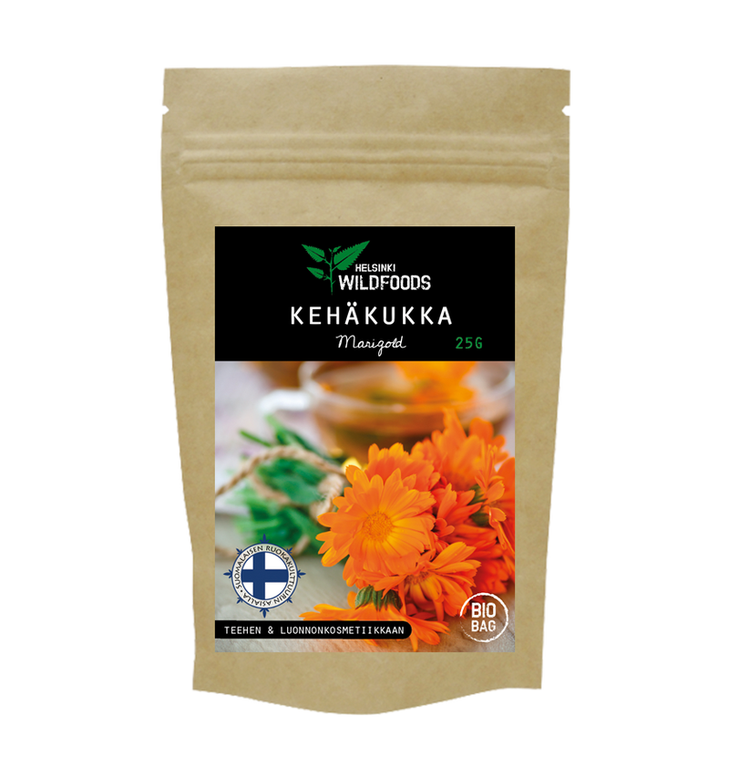 picture of Helsinki Wildfood's Marigold product, biodegradable bag