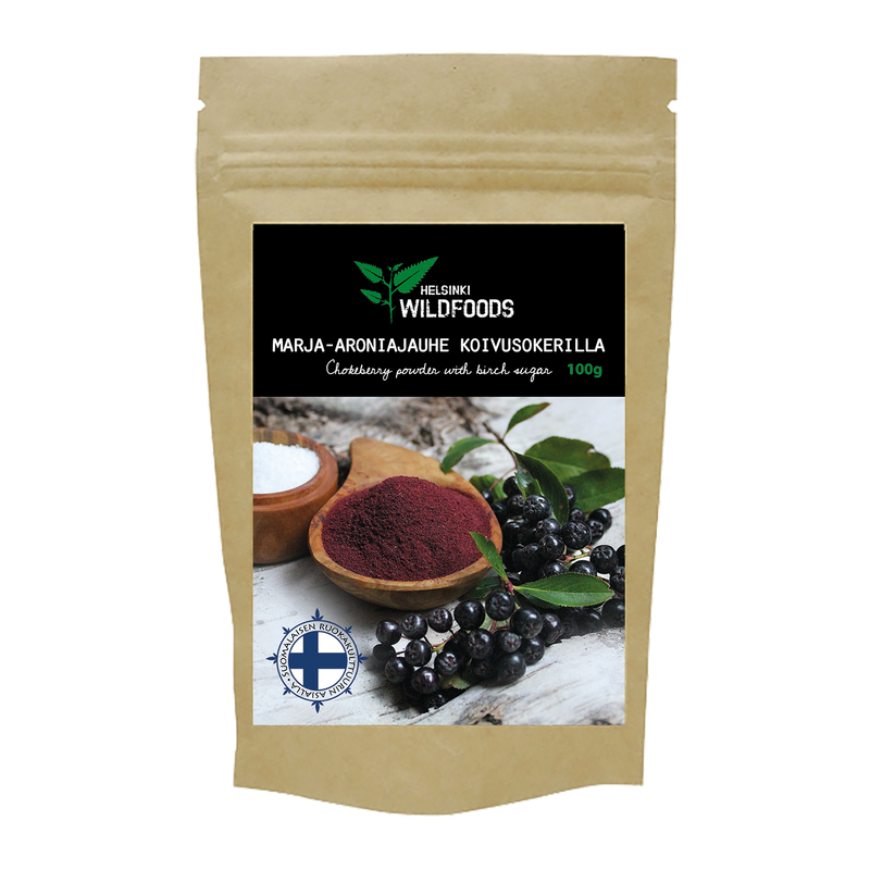 Chokeberry Powder with Birch Sugar / Marja-aroniarouhe koivusokerilla 100g