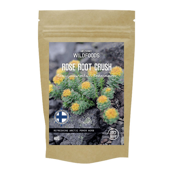 Picture of Helsinki Wildfoods' Rose Root product, bio bag, Ruusujuurirouhe