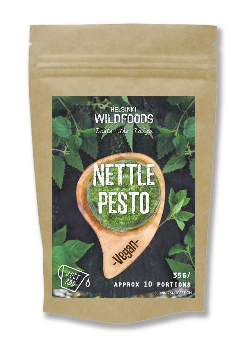 picture of Helsinki Wildfoods' vegan Nettle Pesto product