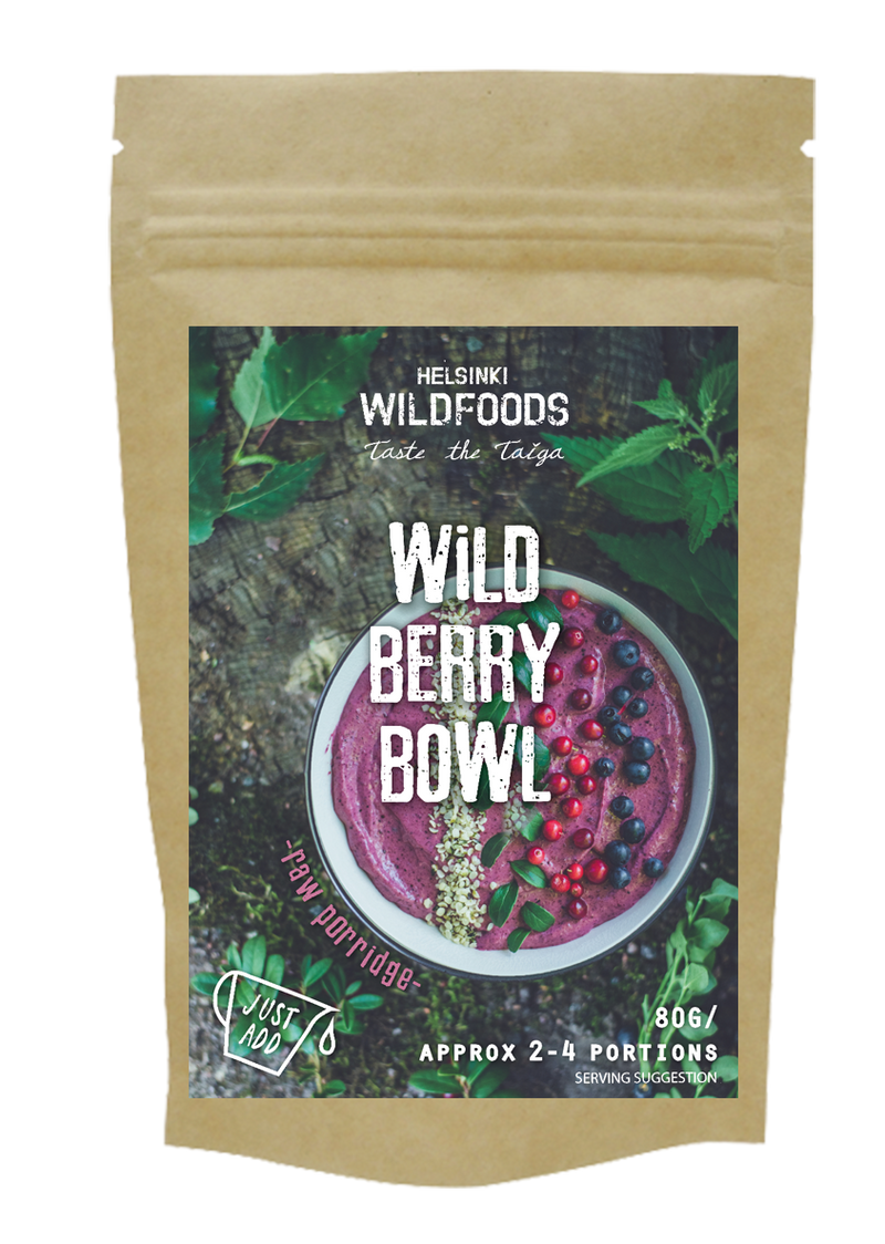 picture of Helsinki Wildfoods' Wild Berry Bowl product, bio bag,