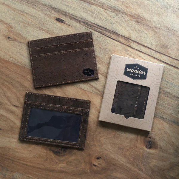 Dark Cork Cardholder Wallet
