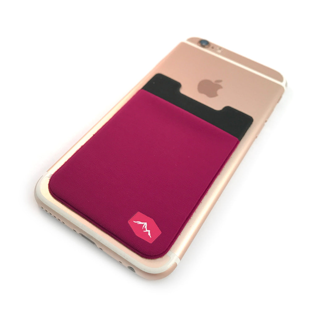 Plum Phone Wallet