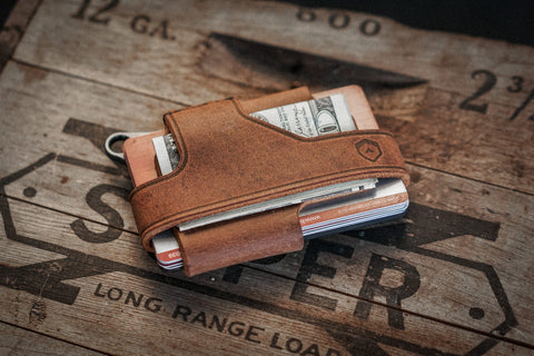 contour rfid wallet leather
