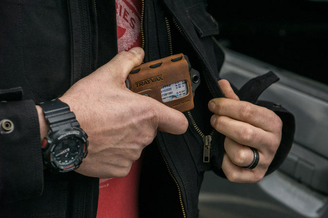 Trayvax: Minimalist wallet: Front Pocket Carry