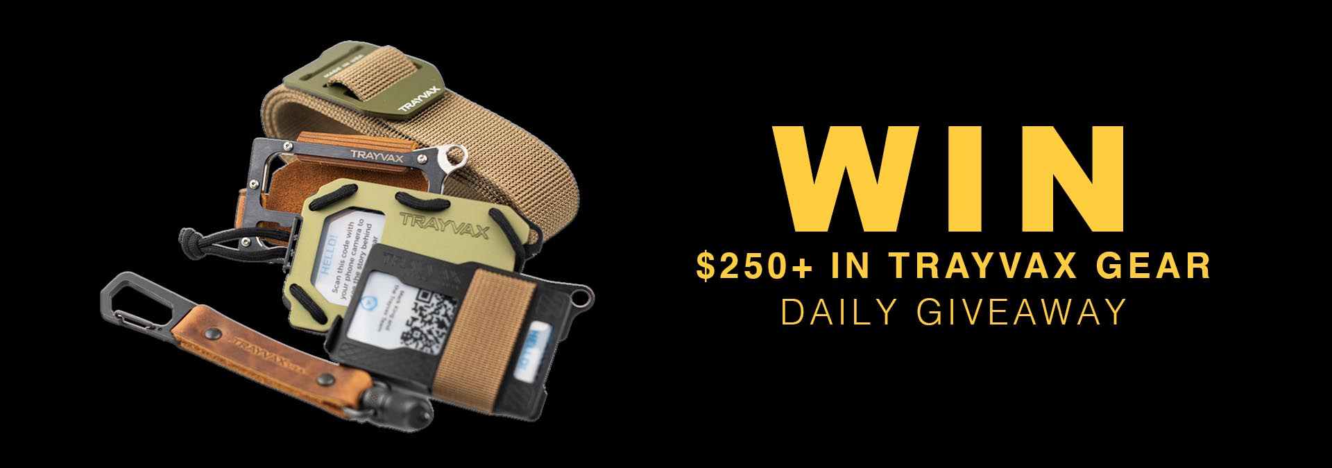 Trayvax Daily Giveaway Package
