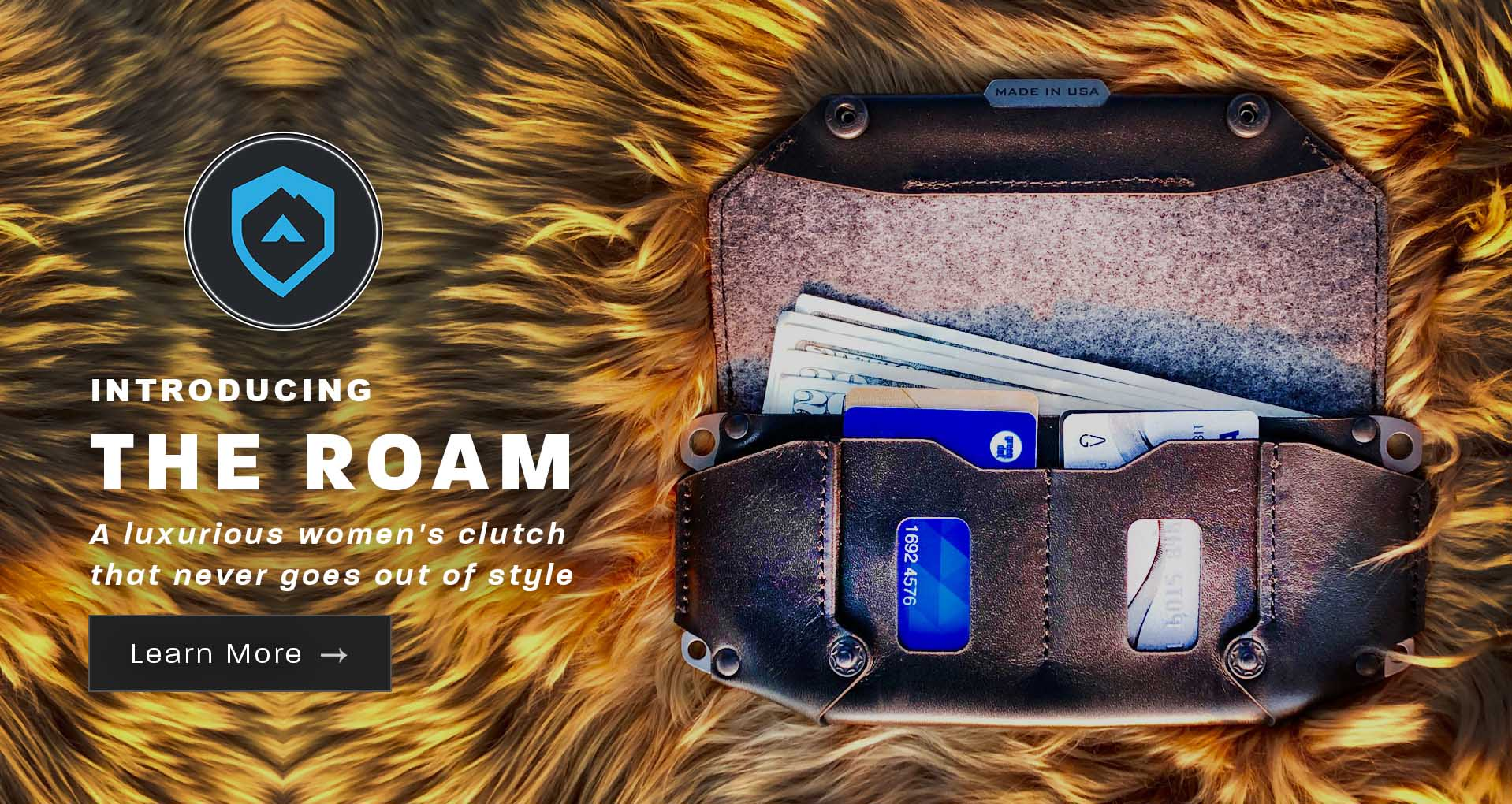 Introducing the Roam Clutch Wallet